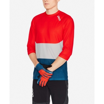 Велоджерси POC Essential Enduro 3/4 Light Jersey Prismane Multi Red (PC 528338186)