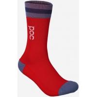 Велоноски POC Essential Mid Length Sock Calcite Blue/Prismane Red (PC 651338282)